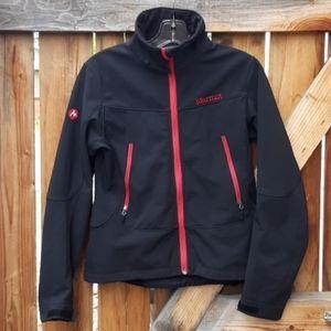 Marmot black soft shell coat womens medium